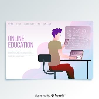 Page d'atterrissage en ligne de l'éducation