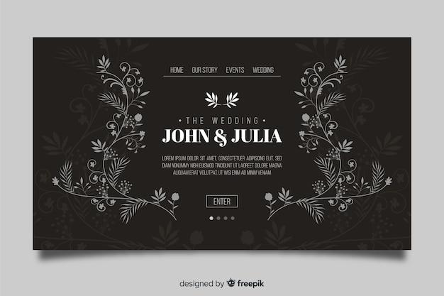 Page d'atterrissage de mariage