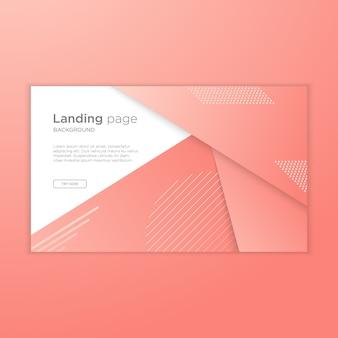 Page d'atterrissage moderne avec dessin abstrait