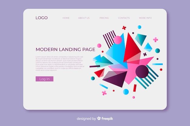 Page d'atterrissage moderne géométrique