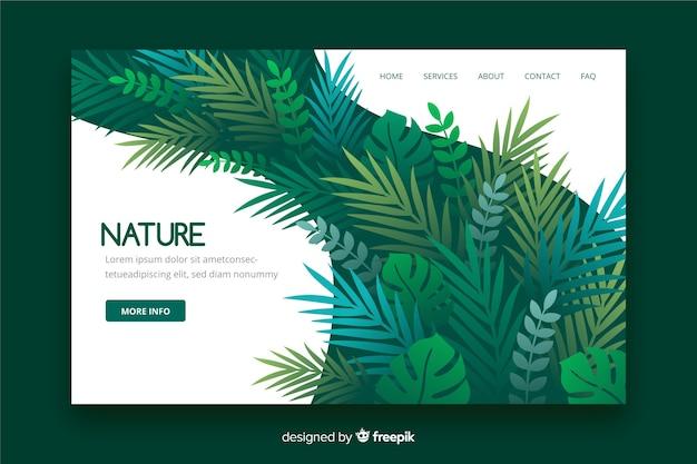 Page d'atterrissage nature avec feuilles