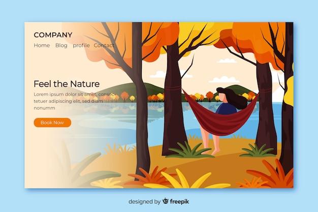 Page d'atterrissage nature avec paysage