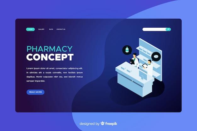 Page d'atterrissage de pharmacie bleue