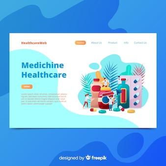 Page d'atterrissage de pharmacie colorée