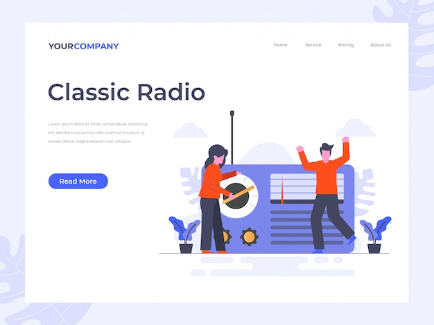 Page d'atterrissage radio classique