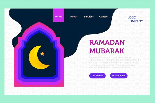 Page d'atterrissage de ramadan mubarak