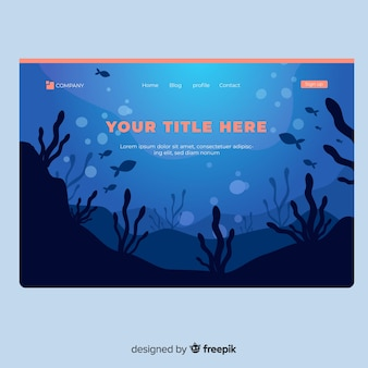 Page d'atterrissage sous l'eau