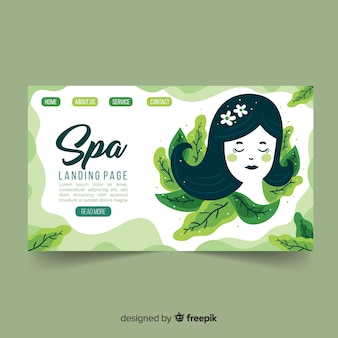 Page d'atterrissage spa