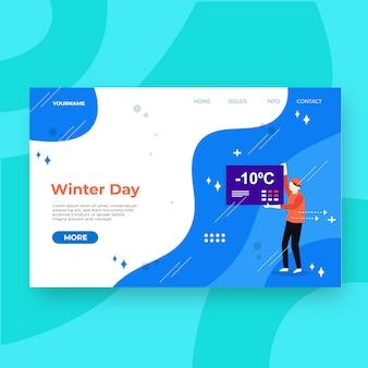 Page d'atterrissage spéciale hiver