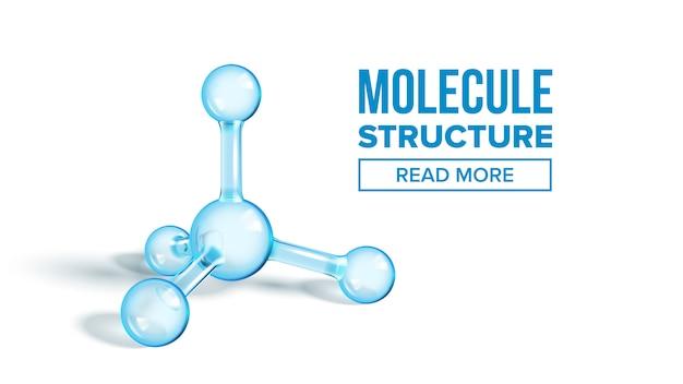 Page d'atterrissage de la structure de la molécule d'ammoniac