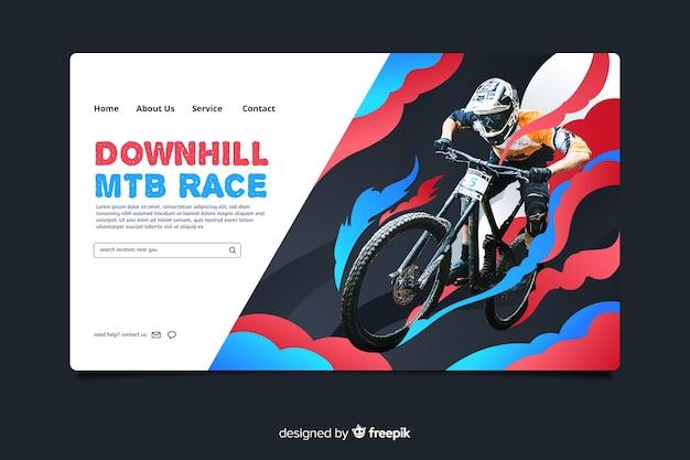 Page d'atterrissage vtt course sport