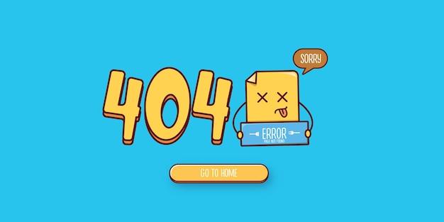 Page de bannière d'erreur 404 avec caractère de document mort