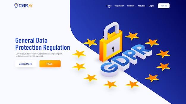 Page de chargement pour le règlement général sur la protection des données