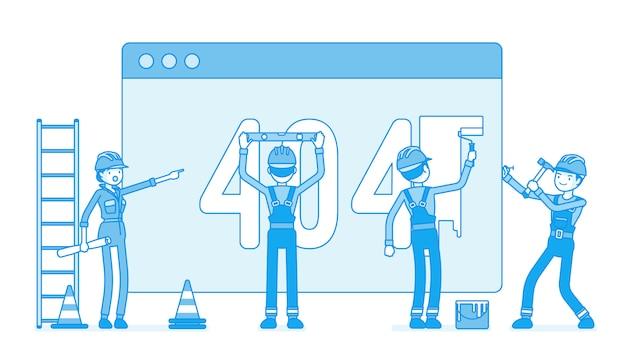 Page avec le code 404 en construction
