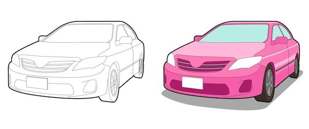 Page de coloriage de voiture pour enfants