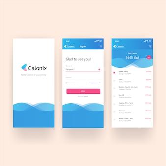 Page de connexion gratuite des applications de tableau de bord d'écran mobile