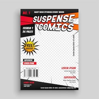 Page de couverture de publication de bande dessinée