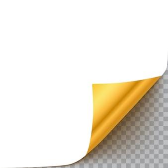 Page curl avec ombre isolée sur fond transparent
