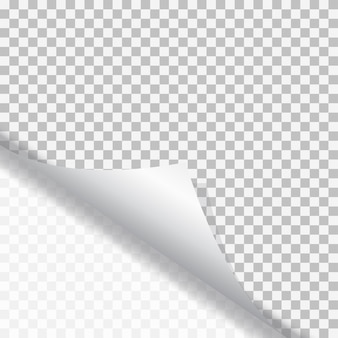 Page curl avec ombre sur papier autocollant