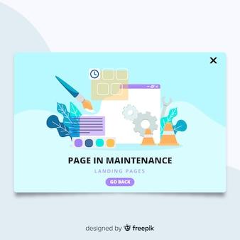 Page dans la page d'atterrissage de maintenance