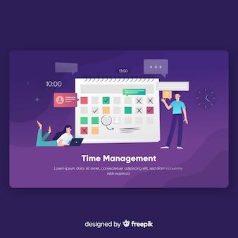 Page de destination de la gestion du temps