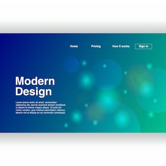 Page de destination abstrait avec un design moderne
