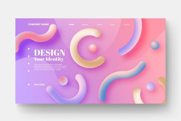 Page de destination abstraite colorée