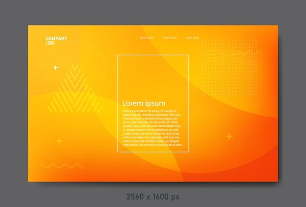 Page de destination abstraite avec des couleurs dégradées et des éléments géométriques.