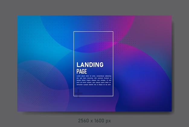 Page de destination abstraite avec des couleurs dégradées utilisant des éléments fluides et liquides.