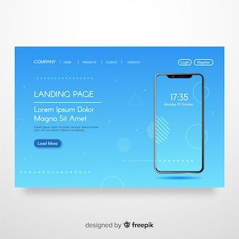 Page de destination abstraite avec smartphone