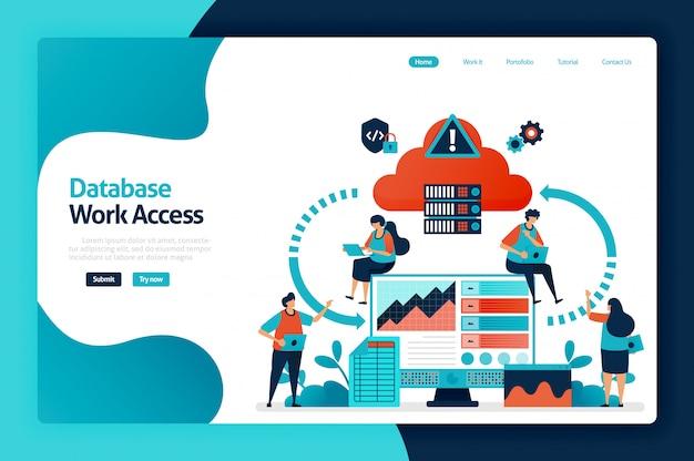 Page de destination de l'accès à la base de données