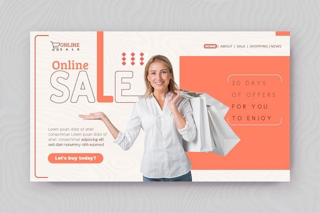 Page de destination des achats en ligne