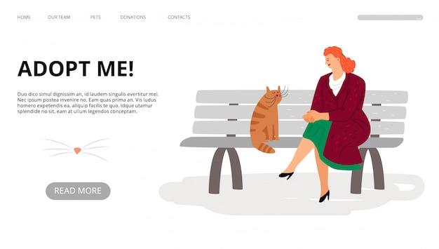Page de destination de l'adoption d'animaux de compagnie