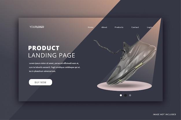 Page de destination d'affichage du produit