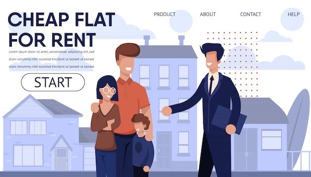 Page de destination de l'agence immobilière avec les meilleures offres