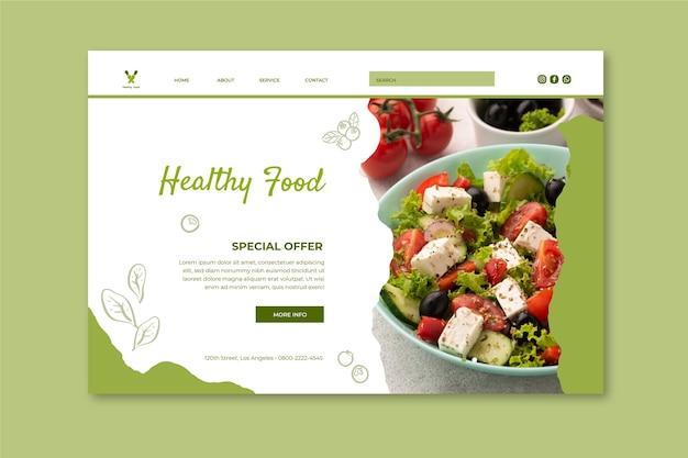 Page de destination des aliments bio et sains