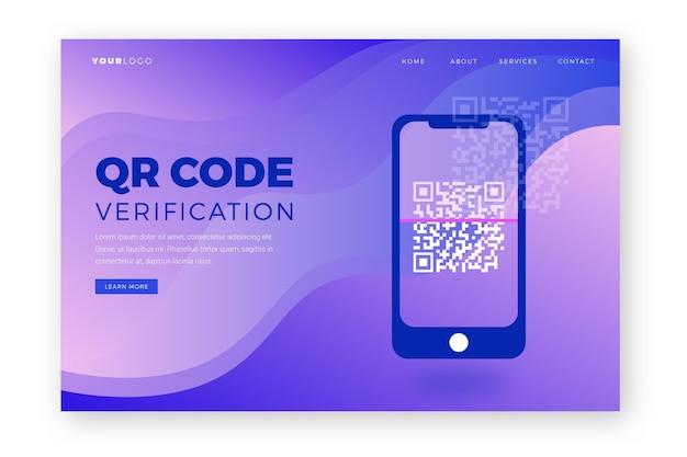 Page de destination d'analyse de code qr