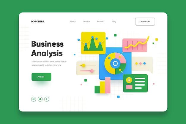 Page de destination de l'analyse commerciale
