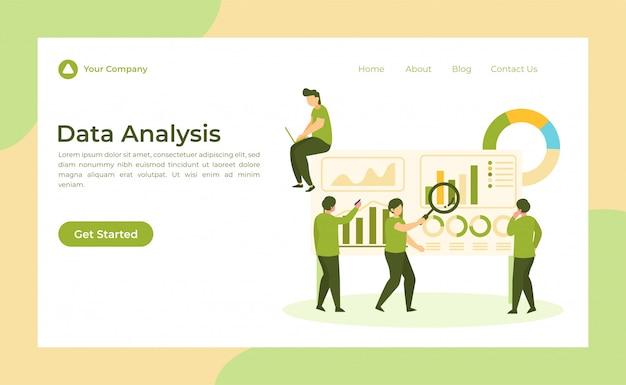Page de destination d'analyse des données