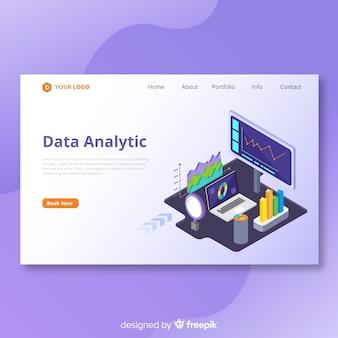 Page de destination d'analyse de données