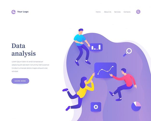 Page de destination de l'analyse des données