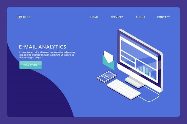 Page de destination d'analyse des e-mails