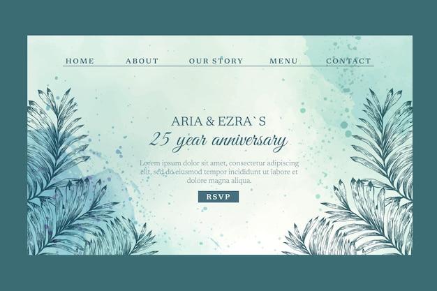 Page de destination anniversaire 25 ans