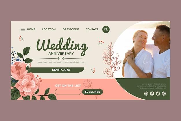 Page de destination anniversaire de mariage