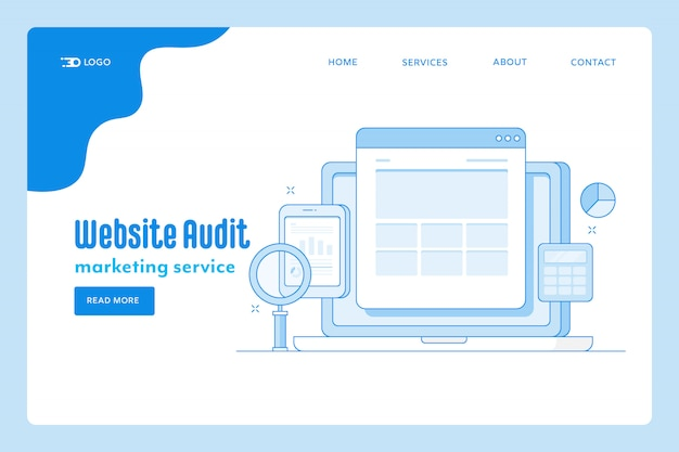Page de destination de l'audit du site web
