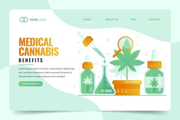 Page de destination des avantages du cannabis médical