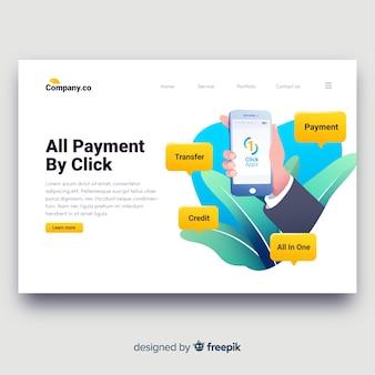 Page de destination bancaire en ligne