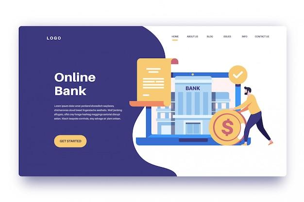 Page de destination banque en ligne