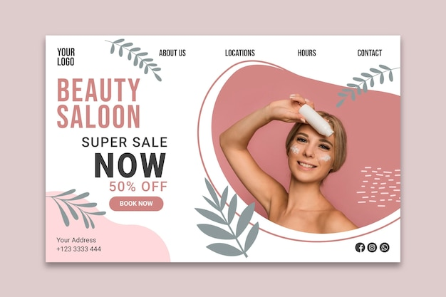 Page de destination beauty saloonn