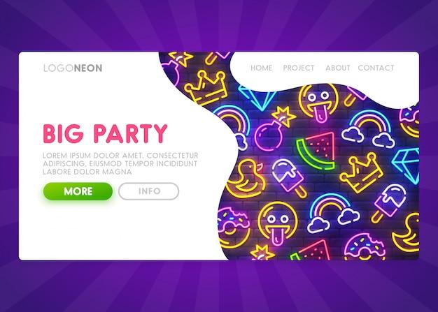 Page de destination de big party